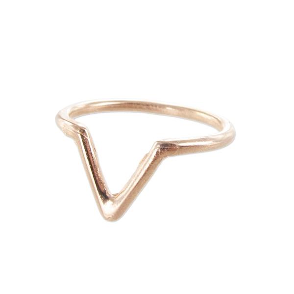 bague de phalange triangle 17 mm dor rose x1 perles co. Black Bedroom Furniture Sets. Home Design Ideas
