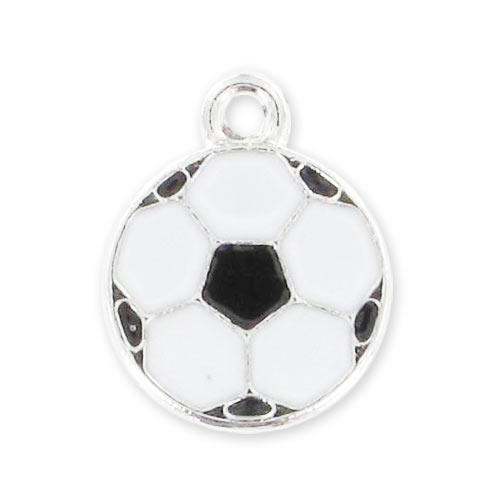 breloque ballon r sine poxy 13 mm noir blanc x1 perles co. Black Bedroom Furniture Sets. Home Design Ideas