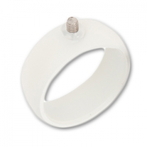 base bague 8 mm taille 62 blanc x1 perles co. Black Bedroom Furniture Sets. Home Design Ideas