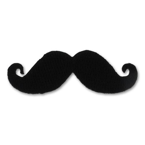 Ecusson thermocollant moustache 50x17 mm noir x1 perles co - Dessin de moustache ...