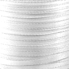 Ruban Satin  4 mm Blanc x 5 m