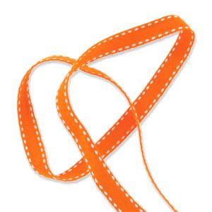 galon fantaisie pointill 10 mm orange x 1m perles co. Black Bedroom Furniture Sets. Home Design Ideas