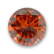 Cabochons en Zirconium ronds 3 mm Orange x10