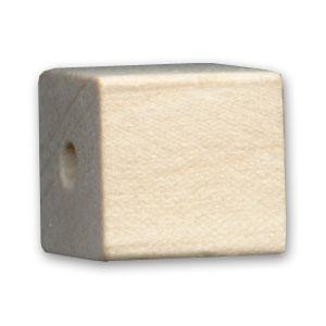 cube en bois brut 10 mm x 1 perles co. Black Bedroom Furniture Sets. Home Design Ideas