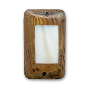 Intercalaire rectangle en bois 26x16 mm Robles/Nacre  x 1