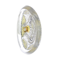Bouton verre 34x24 mm Crystal/Jet/Gold
