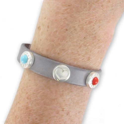mini bouton pression pour bracelet en cuir 12mm turquoise reconsti perles co. Black Bedroom Furniture Sets. Home Design Ideas