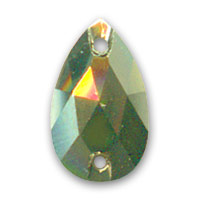 Cabochon 3230 12x7 mm Crystal Metallic Light Gold