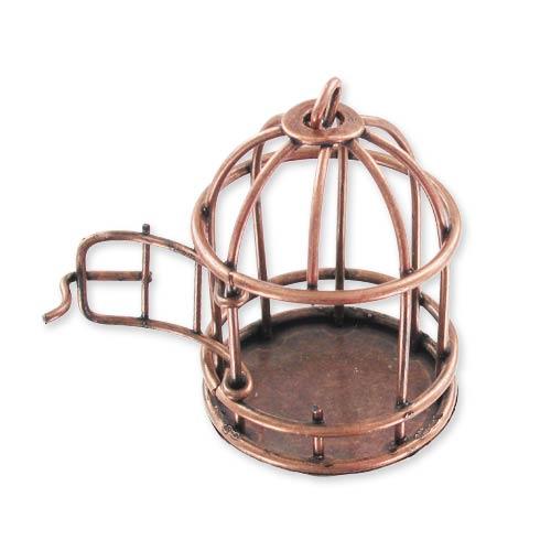 pendentif cage oiseau ouvrable 40 mm cuivr vieilli x1 perles co. Black Bedroom Furniture Sets. Home Design Ideas