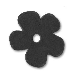 fleur en c ramique 25 mm noir mat perles co. Black Bedroom Furniture Sets. Home Design Ideas