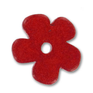 fleur en c ramique 25 mm rouge mat perles co. Black Bedroom Furniture Sets. Home Design Ideas