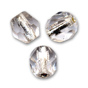 Facettes 4 mm Crystal Silver Lined x50