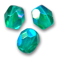 Facettes 4 mm Emerald AB x50