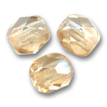 Facettes 4 mm Luster Topaz Gold x50