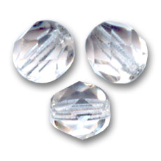 Facettes 4 mm Crystal  x50