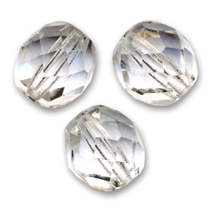 Facettes 8 mm Crystal  x20
