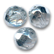Facettes 8 mm Crystal Argent x20