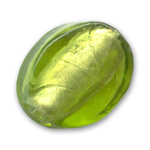 Olives plates feuille d 39 argent 18x14 mm olivine x5 for Feuille inox a coller