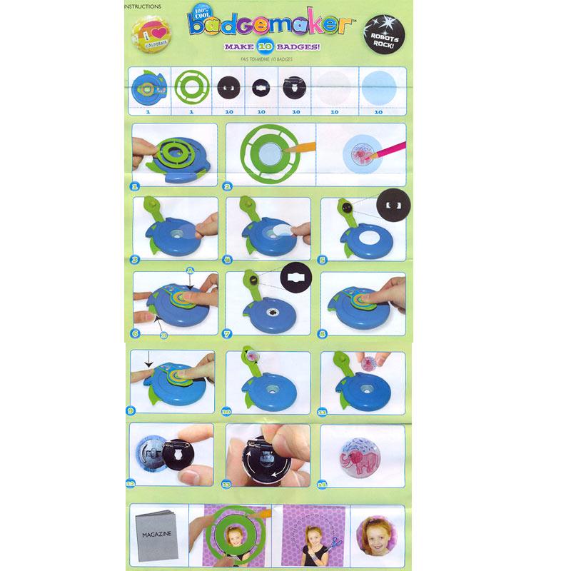 machine badge recharge autres accessoires perles co. Black Bedroom Furniture Sets. Home Design Ideas