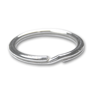 Porte Clefs Anneau 27 Mm En Argent 925 X1 Perles Co