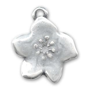 breloque r sine poxy fleur 23 mm blanc x1 perles co. Black Bedroom Furniture Sets. Home Design Ideas