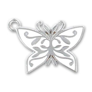 pendentif r sine poxy papillon 30 mm blanc x1 perles co. Black Bedroom Furniture Sets. Home Design Ideas