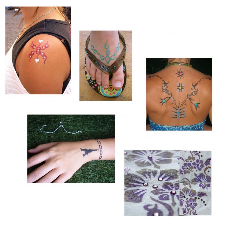 encre cosm tique pour tatouage temporaire bleu ki sign perles co. Black Bedroom Furniture Sets. Home Design Ideas