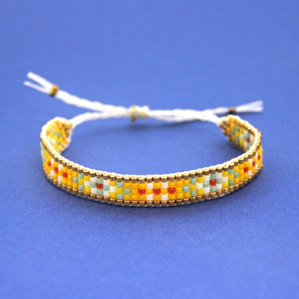 Comment Faire Un Bracelet Tisse Avec Nœud Coulissant Perles Co