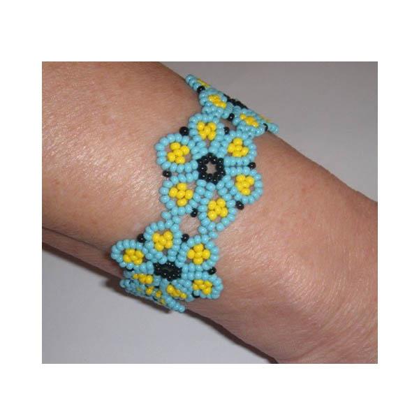 bracelet perle fleur