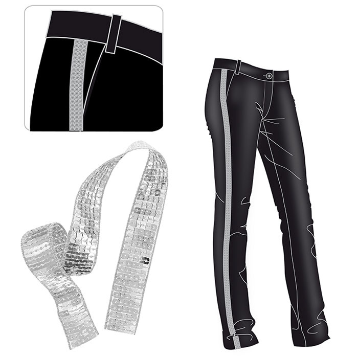 Customiser un pantalon avec un ruban paillettes perles - Cote table vente en ligne ...