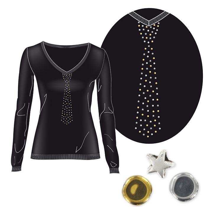 customiser un pull avec des palets et des toiles perles co. Black Bedroom Furniture Sets. Home Design Ideas