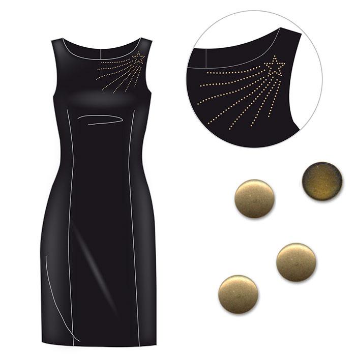 Comment customiser robe noire