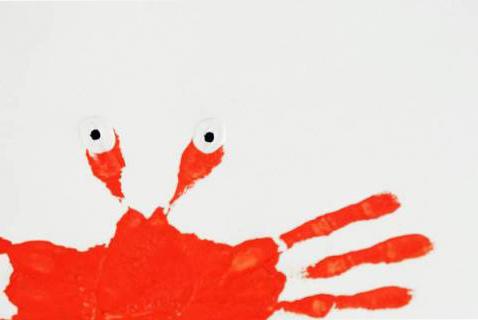 Dessiner un crabe facilement avec de la peinture perles co - Dessiner un crabe ...