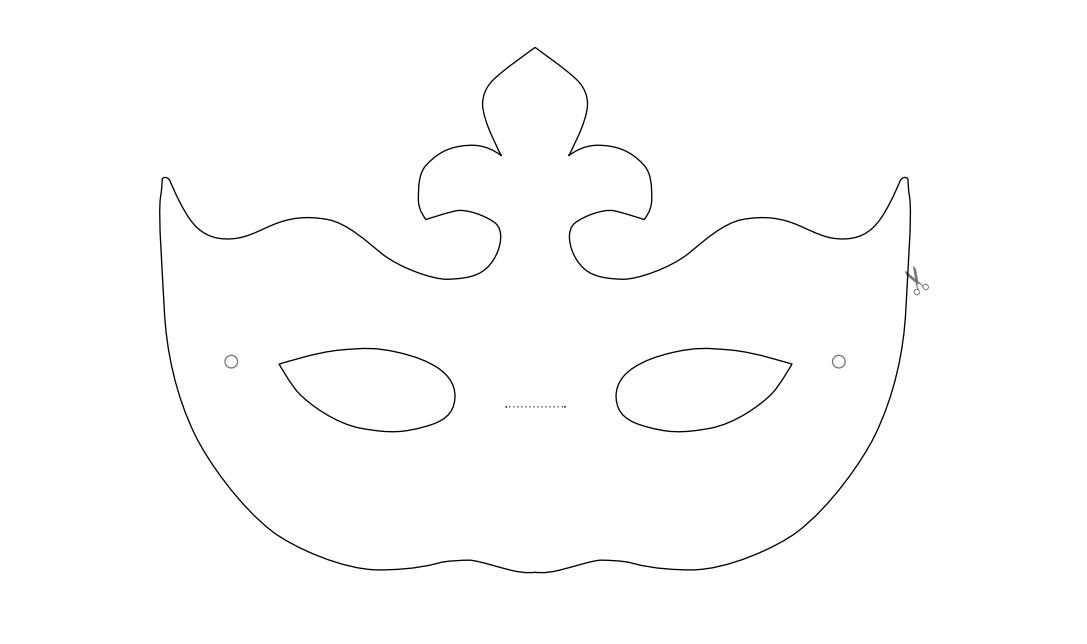 Fabriquer un masque v nitien en fimo air papier mach - Masque venitien a imprimer ...