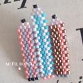 Réaliser une broche crayons en tissages de perles Miyuki