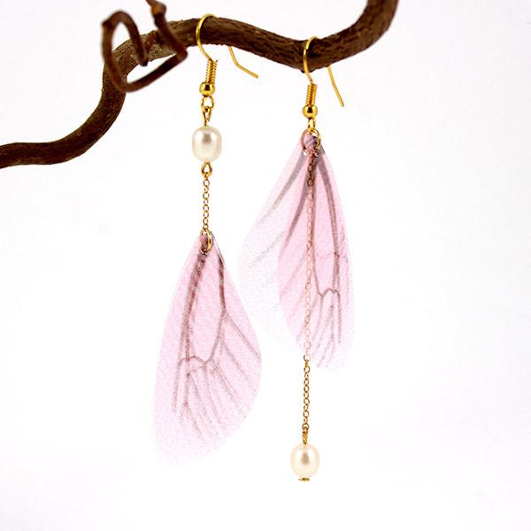 réflexions sur nouveaux produits chauds magasin officiel Boucles d'oreilles asymétriques avec ailes de papillon en ...