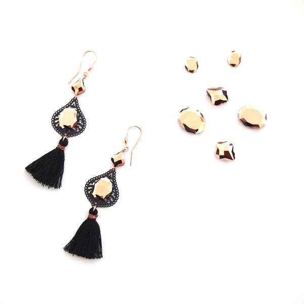 profiter du prix de liquidation moins cher Achat Boucles d'oreilles avec baroque bead et pompon - Perles & Co
