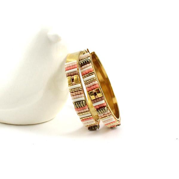 Boucles d 39 oreilles cr oles diy tiss es avec perles de verre miyuki perles co - Boucle d oreille diy ...