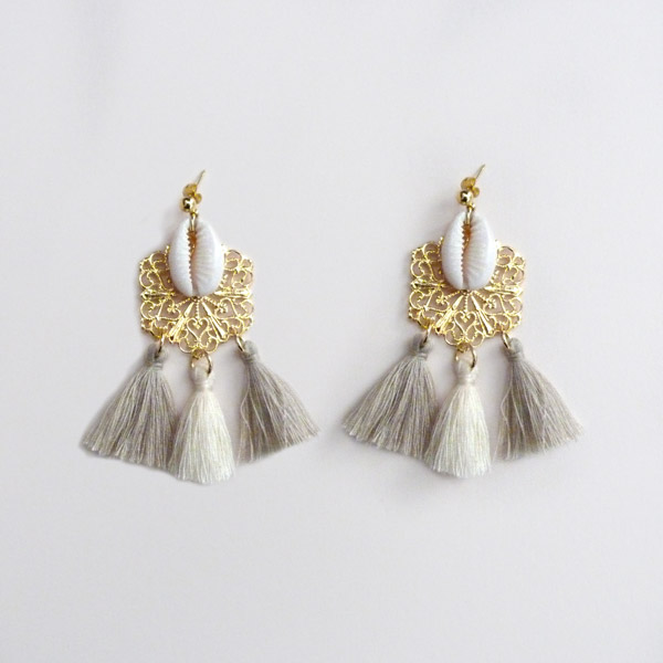 boucle d'oreilles coquillage