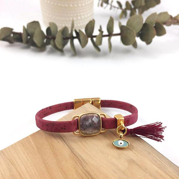 diy bracelet li ge avec il porte bonheur perles co. Black Bedroom Furniture Sets. Home Design Ideas