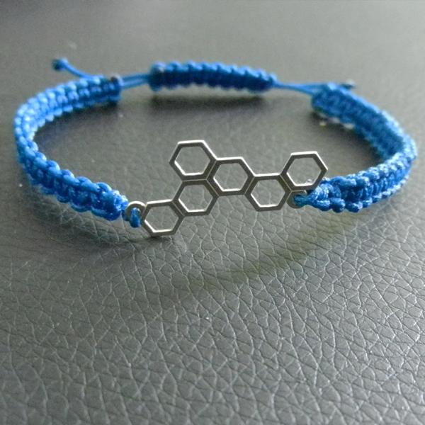 Bracelet Macrame Et Intercalaire Nid D Abeille Perles Co