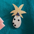 DIY broche en tissu pineapple