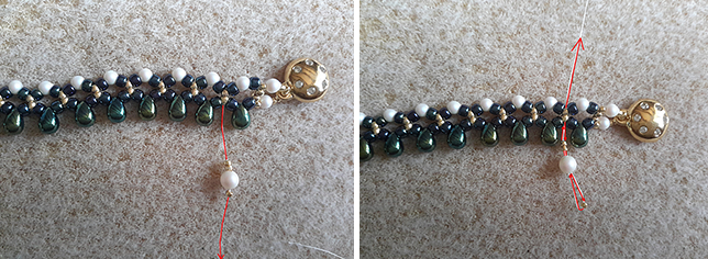 tuto collier perle de rocaille