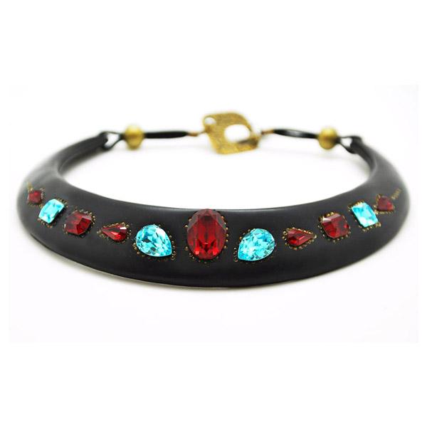 collier plastron en p 226 te polym 232 re et cristaux swarovski perles co