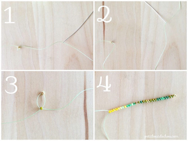 Ginko Blatt-tutorial-Perlen-miyuki-Ziegel-Stich-Rank1