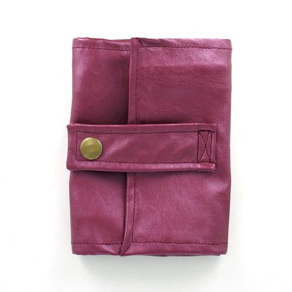 Porte monnaie simili cuir irisé bordeaux