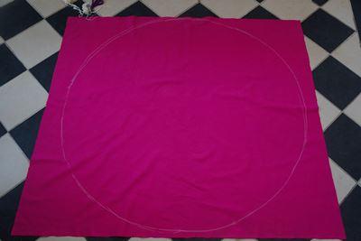Serviette de plage DIY ronde pastèque tissu coton épais - Perles