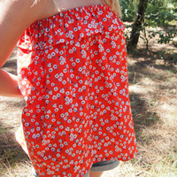 Top bandeau long DIY avec volants en tissu Atelier Brunette