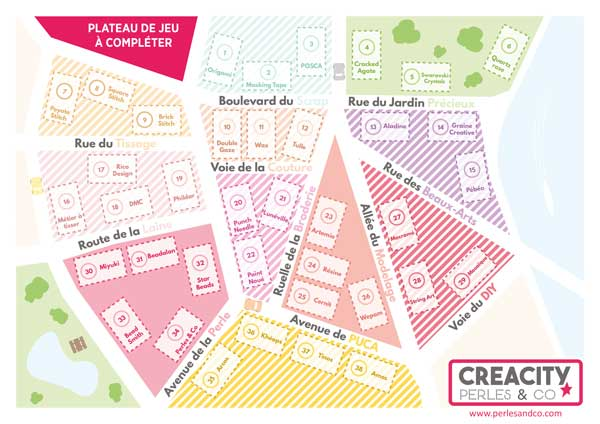 Plateau de jeu Creacity par Perles and Co