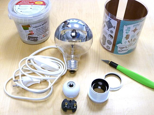 materiel electrique pour faire une lampe design de maison. Black Bedroom Furniture Sets. Home Design Ideas